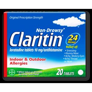 Claritine ® 10 mg ( Loratidine ) 20 tablets