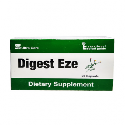 Digest Eze ( Bromelain 50 mg + Papian 50 mg + Chamomile 150 mg + Ginger Root 70 mg + Peppermint Leaves 25 mg + Anise Powder 25 mg + fennel powder 50 mg ) 20 capsules