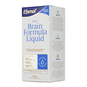 EFALEX BRAIN FORMULA LIQUID EFAMOL BRAIN OMEGA 3 & 6 + DHA RICH brain health 150 mL