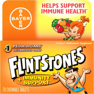 FLINTSTONES ™ IMMUNITY SUPPORT CHEWABLES MULTIVITAMIN Helps Support Immune Health 70 Chewable Tablets