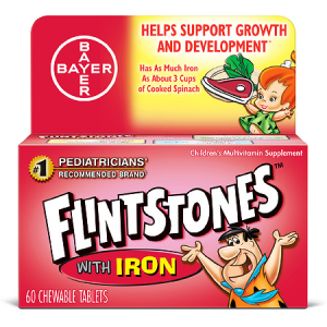 FLINTSTONES ™ CHEWABLES WITH IRON MULTIVITAMIN Helps Support Growth & Development 70 Chewable Tablets