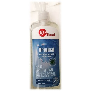 Go Hand Original Hand Sanitizer Gel Kills 99.9 % Of Illness Causing Germs Antibacterial & Antiviral 500 mL