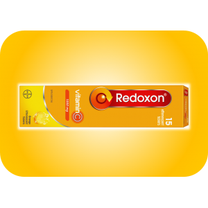 REDOXON  Effervescent Vitamin C 1000 mg | Orange Flavour 15  Effervescent Tablets