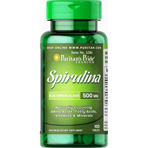 spirulina Blue - Green algae 500 mg ( Spirulina + Sodium Copper ) 100 tablets
