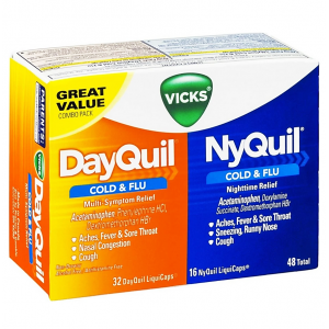 DAYQUIL ™ / NYQUIL ™ VICKS COLD & FLU RELIEF LIQUICAPS ™ CO-PACK  72 TOTAL LIQUICAPS