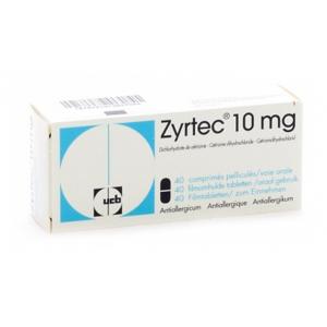ZYRTEC ® TABLET 10 mg ( Cetrizine ) 20 tablets