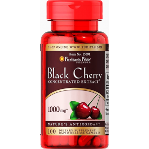 Black Cherry Concentrated Extract 1000 mg ( Prunus Serotina ) 100 capsules