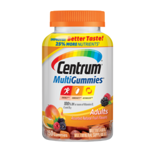 Centrum ® MultiGummies ® Adults  25 % More Nutrients Multivitamin Multimineral  70 gummies