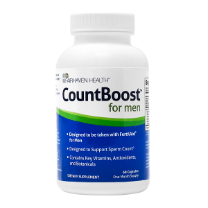 CountBoost Sperm Count Supplement For Men Fairhaven Health 60 capsules