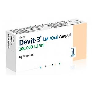 Devit - 3 300.000 IU ( Vitamin D 3 ) IM / Oral Ampoule