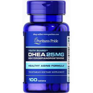 DHEA 25 mg Youth Gaurd Puritan's pride ( Dehydroepiandrosterone ) Healthy Aging Formula 100 tablets