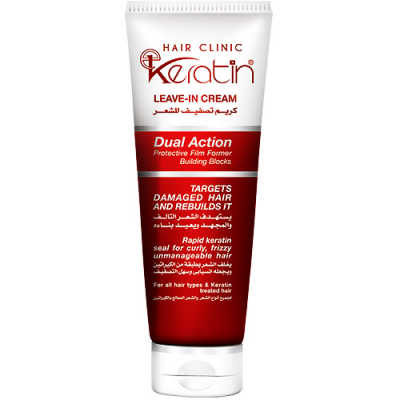 E - KERATIN HAIR CLINIC LEAVE IN CREAM DUAL ACTION 200 ML
