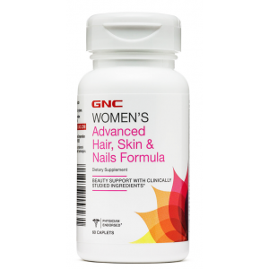 GNC WOMEN'S ADVANCED HAIR , SKIN & NAILS FORMULA 60 caplets