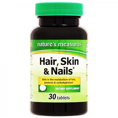 Hair Skin & Nails nature's measure ® Dietary Supplement 30 tablets