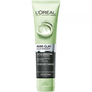 LOREAL PURE - CLAY Detox & Brighten Cleanser Gel ( 3 Pure Clays and Charcoal ) 150 mL