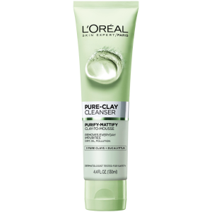 LOREAL PURE - CLAY Purify & Mattify Cleanser Gel ( 3 Pure Clays and Eucalyptus ) 150 mL
