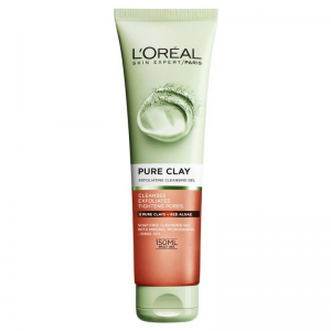 LOREAL PURE - CLAY Exfoliate & Refine Cleanser ( 3 Pure Clays and Red Algae ) 150 mL