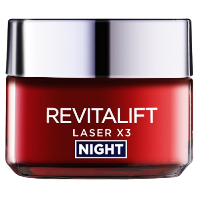 LOREAL REVITALIFT Laser X3 Anti - Ageing Night Cream - Mask 50 mL