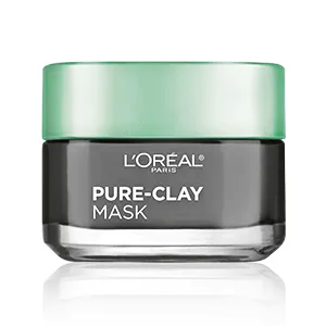 LOREAL PURE - CLAY Detox & Brighten Face Mask ( 3 Pure Clays and Charcoal ) 48 gm