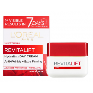 LOREAL REVITALIFT MOISTURISING CREAM - DAY ANTI-WRINKLE + ENHANCED ELASTICITY 50 mL
