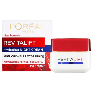 LOREAL REVITALIFT HYDRATING NIGHT CREAM - ANTI-WRINKLE + EXTRA FIRMING 50 mL