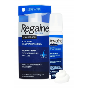 Regaine 5 % Extra Strength Topical Foam For Men ( Minoxidil ) 73 mL