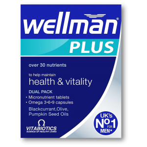 Wellman Plus Omega 3 - 6 - 9 + Blackcurrant + Olive + Pumpkin Seed Oils 56 tablets / capsules