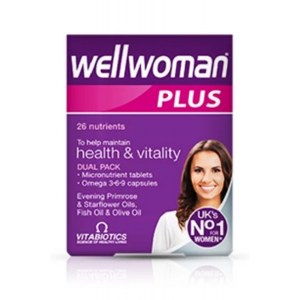 Wellwoman Plus Omega 3 - 6 - 9 Evening Primerose Starflower Oils Fish Oil Olive Oil Dual Pack 56 tablets / capsules