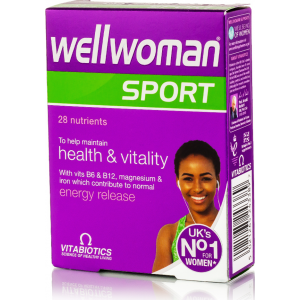 Wellwoman Sport Health & Vitality With Vitamins B 6 B 12 Magnesium Iron 28 Nutrients 30 tablets