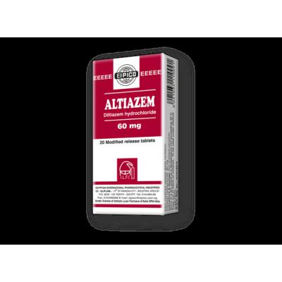 Altiazem 60 mg ( Diltiazem hydrochloride ) 20 modified-release MR tablets