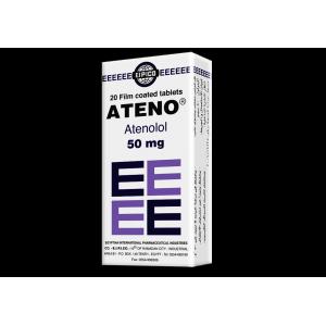 Ateno 50 mg ( Atenolol ) 20 tablets