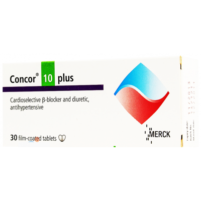 Concor ® 10 plus 10 / 25 mg ( Bisoprolol fumarate / Hydrochlorothiazide ) 30 tablets