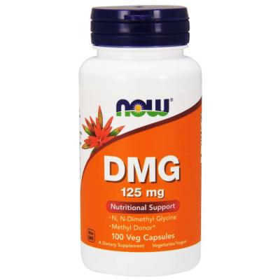 DMG 125 mg Nutritional Support Now ( Dimethylglycine ) 100 Veg Capsules
