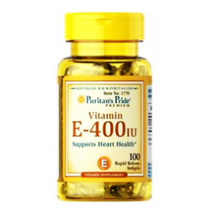 Vitamin E - 400 IU Supports Heart Health 100% Natural Puritan's Pride 100 softgels
