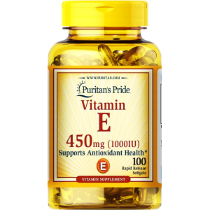 Vitamin E 450 mg ( 1000 IU ) Puritan's Pride Supports Antioxidant Health 100 softgels