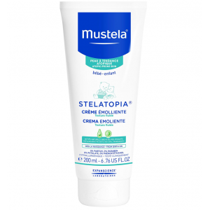 Mustela STELATOPIA ® Emollient cream skin care for face and body from birth on 200 mL