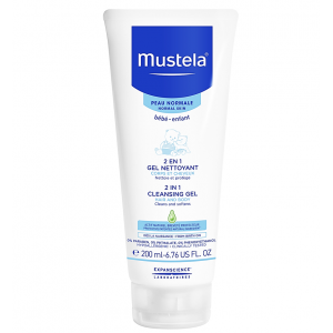 Mustela 2 in 1 Cleansing gel Hair & Body Cleans & Softens Shampoo & Body Wash 200 mL