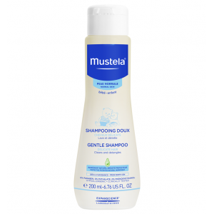 Mustela Gentle Shampoo Baby Shampoo and Detangler , Tear-Free , with Natural Avocado Perseose 200 mL