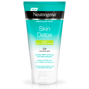 Neutrogena ® Skin Detox ® 2-in-1 Clarifying Clay Wash Mask 150 mL