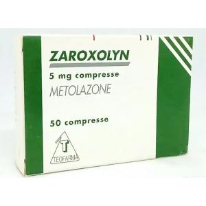 Zaroxolyn 5 mg Teofarma ( Metolazone ) 50 tablets