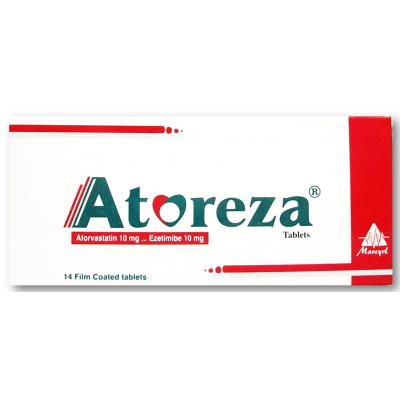 Atoreza 10 / 10 mg ( Ezetimibe 10 mg  / Atorvastatin 10 mg ) 28 film-coated Tablets