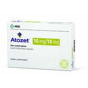 ATOZET ® 10 mg / 10 mg (  Ezetimibe / Atorvastatin ) 30 film-coated tablets