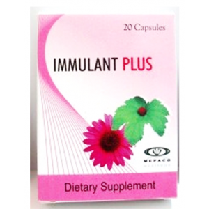 Immulant Plus ( Echinacea 125 mg + Golden Seal Extract 50 mg ) 20 capsules