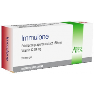 Immulone Immunustimulant ( Echinacea Purprea 150 mg + Vitamin C 50 mg ) 20 lozenges tablets