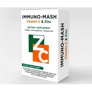 Immuno - Mash Dietary Supplement Supports Healthy Immune System ( Vitamin C 500 mg + Zinc 23.9 mg ) 30 film-coated tablets