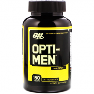 OPTI - MEN MULTIVITAMIN HEALTH & WELLNESS 150 unflavored tablets