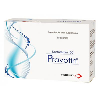 Pravotin 100 mg ( Lactofferin ) 14 sachets