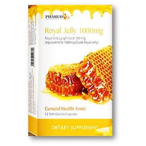 Royal Jelly 1000 mg Pharco 12 capsules