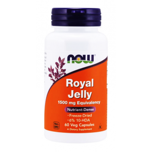 Royal Jelly 1500 mg Superfood Freeze-Dried 6% 10 - HDA Now 60 Veg Capsules