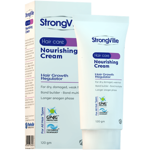 StrongVille Nourishing Hair Cream For Dry And Damaged Hair ( Aloe Vera + Creatine + Rocca Oil + Wheat Germ Oil + Nigella Sativa Oil ) 120 gm